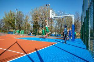 Inaugurazione del campo da basket